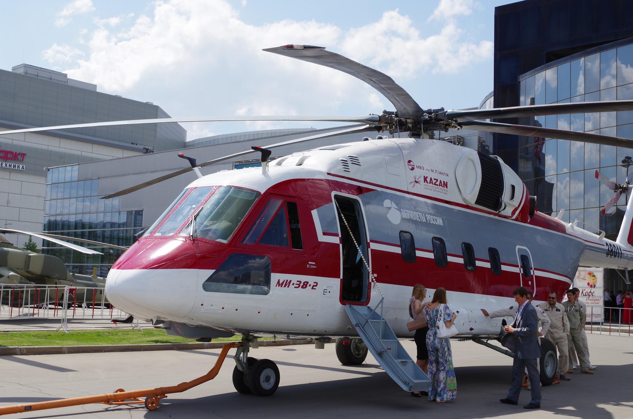 Многоцелевой вертолёт Ми-38 на VII Международной выставке вертолётной индустрии HeliRussia 2014