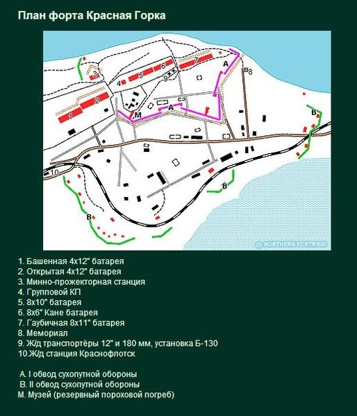форт красная горка схема бункера