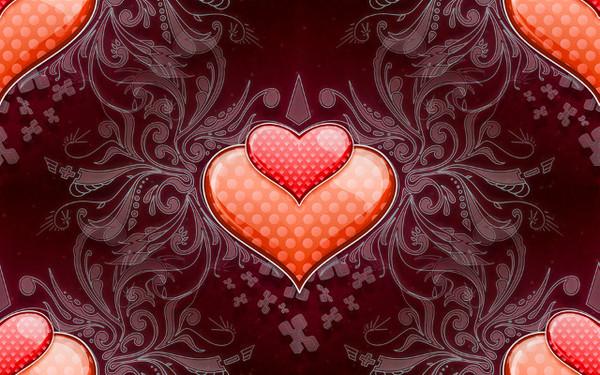 Сердечки красные gala3d ru
