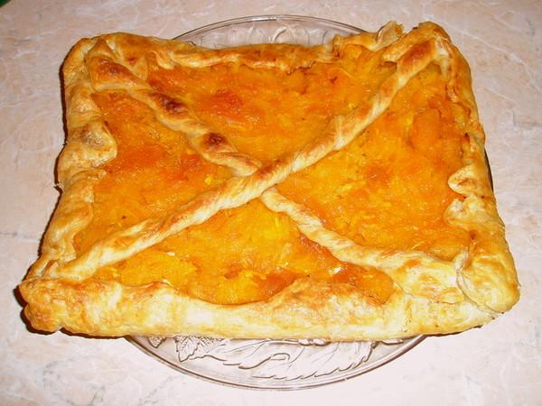 Пирог из слоеного теста с тыквой рецепты