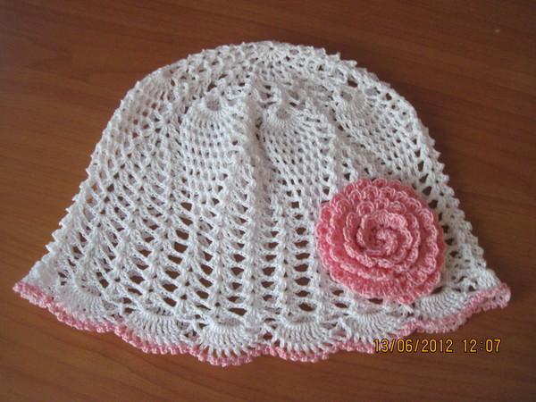 вязаные шапочки для детей со