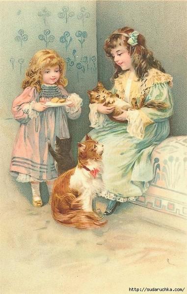 Старинные открытки с детками 65