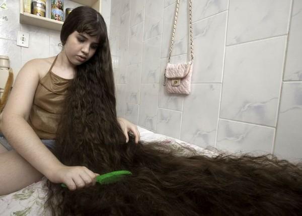 Самые длинные в волосы в мире фото у детей