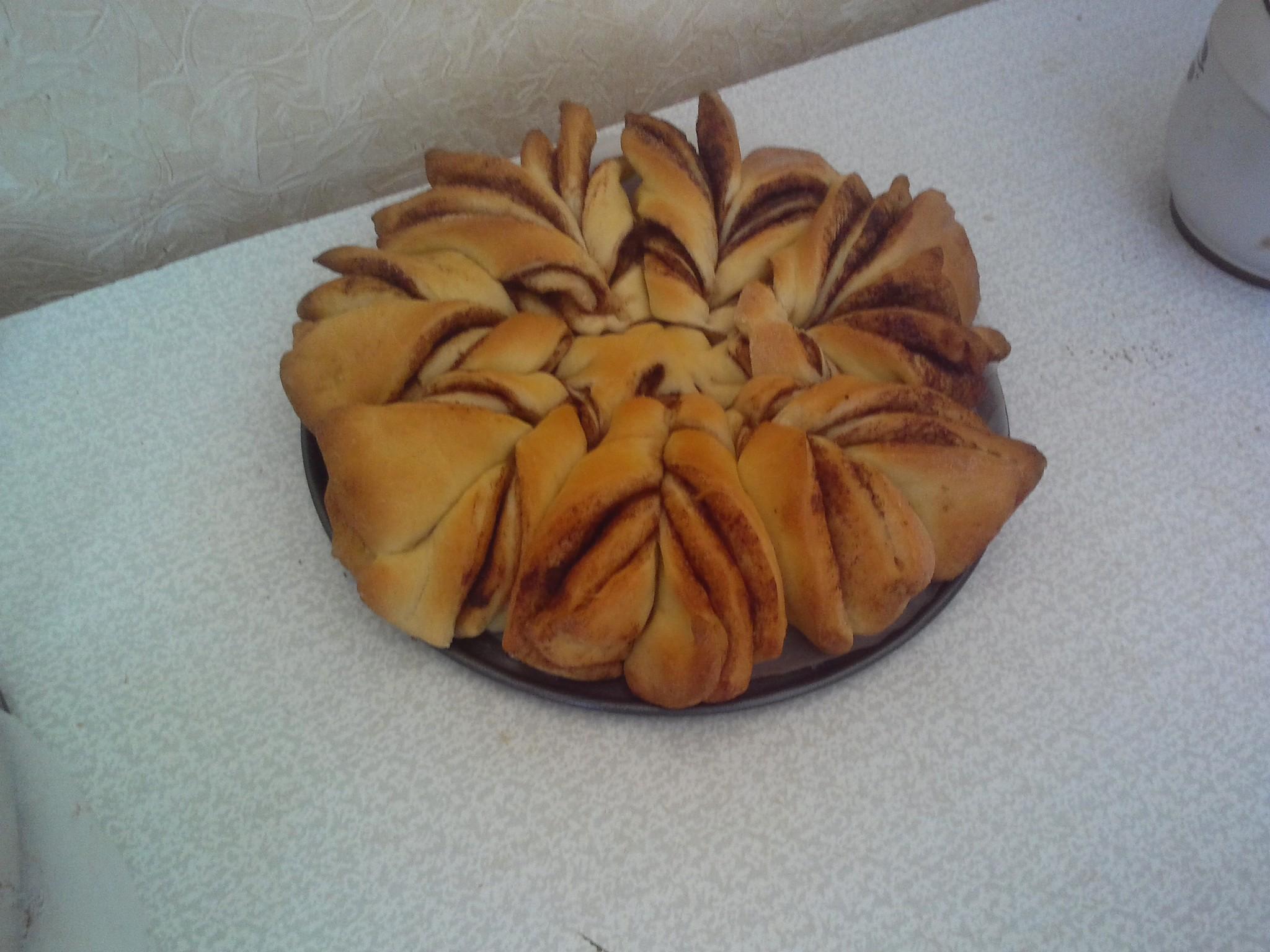 Рогалики пирога Снежинка