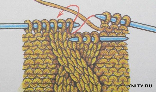 Как связать косы 3 петель