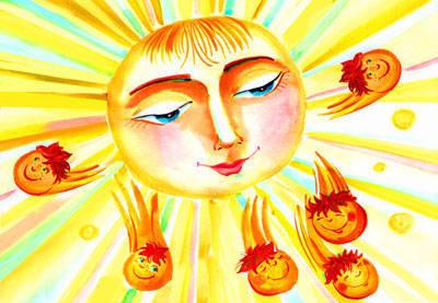 Как рисовать солнце игры