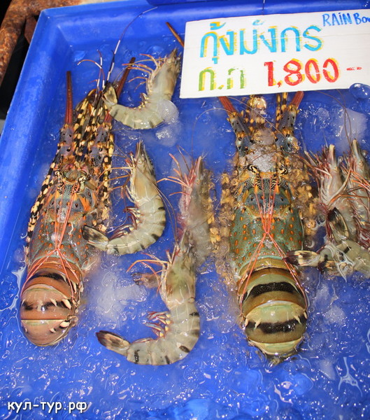купить омаров лангустов креветок дёшего