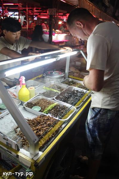 купить есть готовят жареные насекомые кузнечики