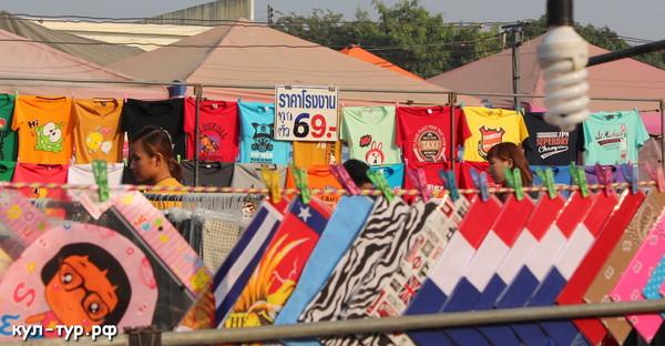 дешёвые футболки на рынке паттайи