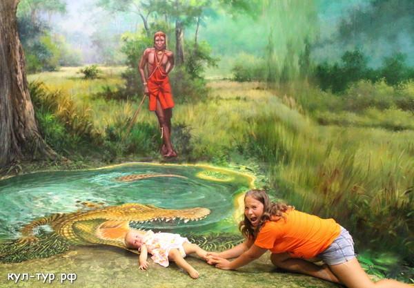 ребёнка съел крокодил