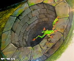 картины в 3д музее - колодец с лягушками