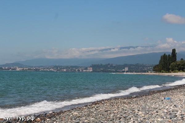 чёрное море в абхазии пляжи