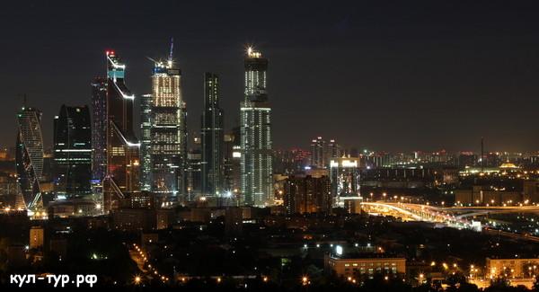 ночная Москва москва сити
