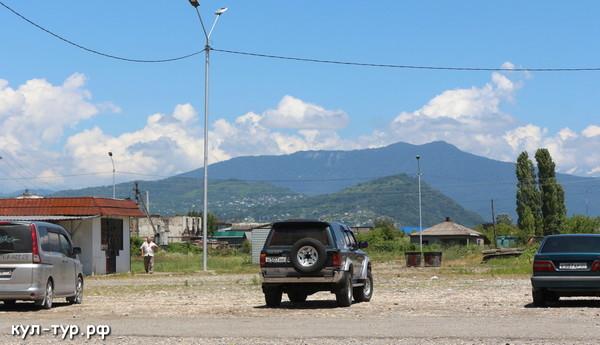 рынок на границе Абхазии