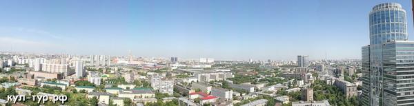 панорама Москвы с высоты