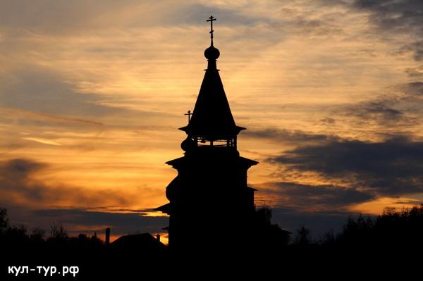 закат церковь