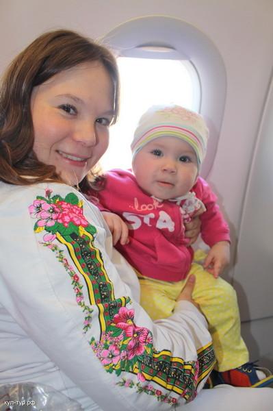 с ребёнком в самолёте