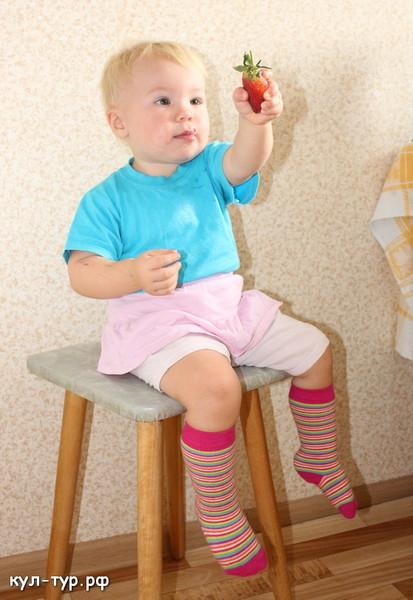 ребёнок любит клубнику