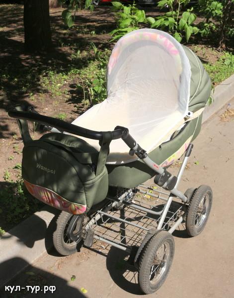 детская коляска с москитной сеткой
