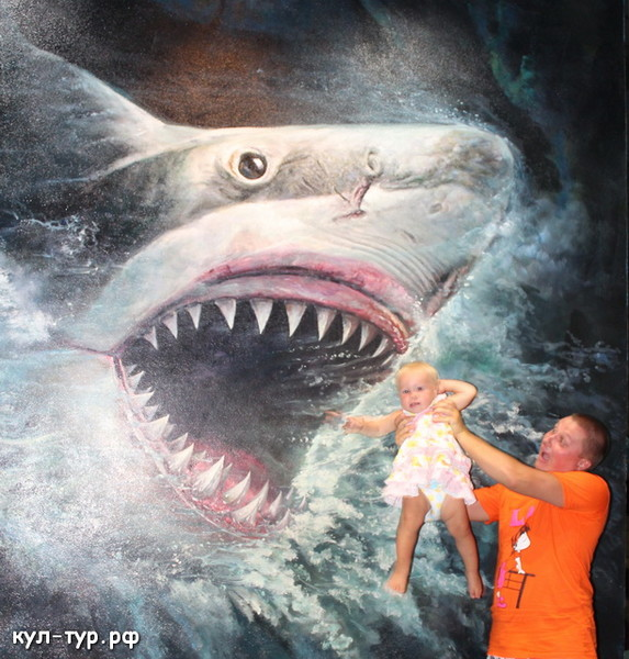 акула в 3д музее
