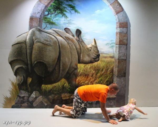 носорог в 3д музее