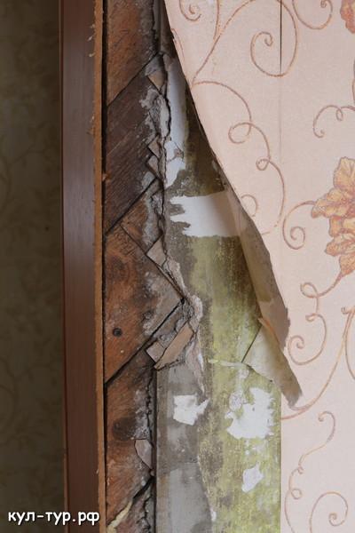 деревянные стены в старом доме