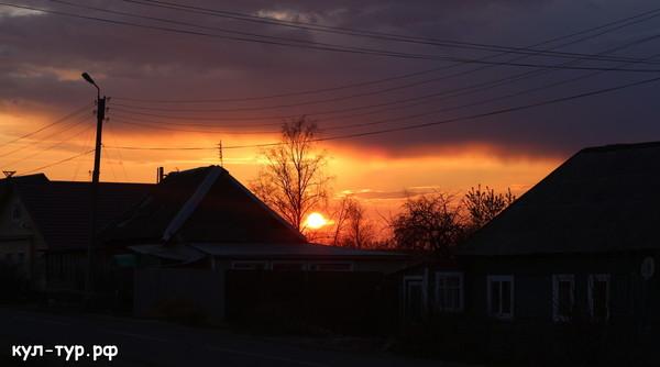 закат в Сухиничах