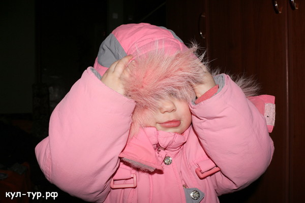 Маша в зимнем кастюме