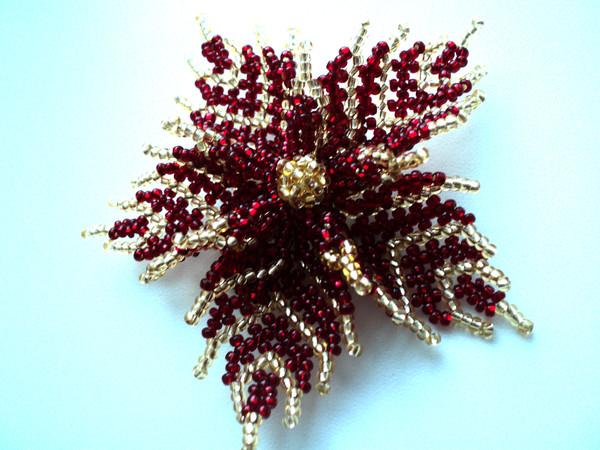 Бисер плетение ажурное цветы