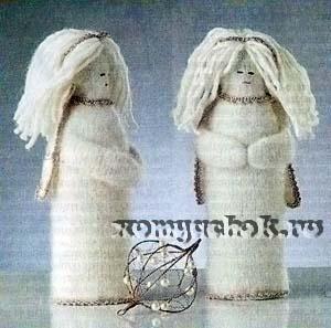 Ангел вязанный спицами
