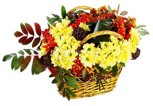 Фото осенний букет из цветов