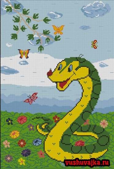 Скачать вышивка змеи