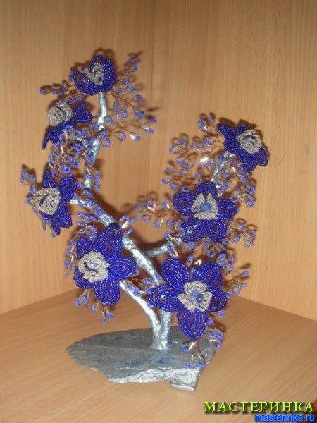 Цветы и деревья из бисера своими руками