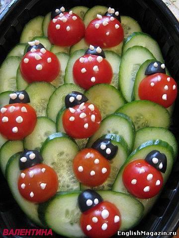 Украшение блюд для детского дня рождения с фото