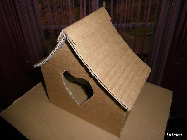 Домик из картона I-1285