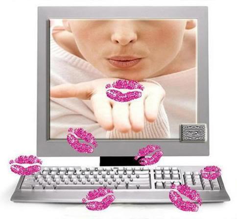 Красивая открытка воздушный поцелуй 14