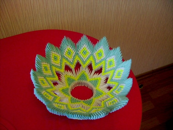 Бумажная тарелка своими руками
