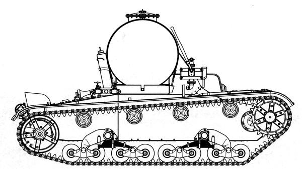 на шасси танка Т-26 были