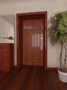Декорирование откосов для входных дверей панелями МДФ