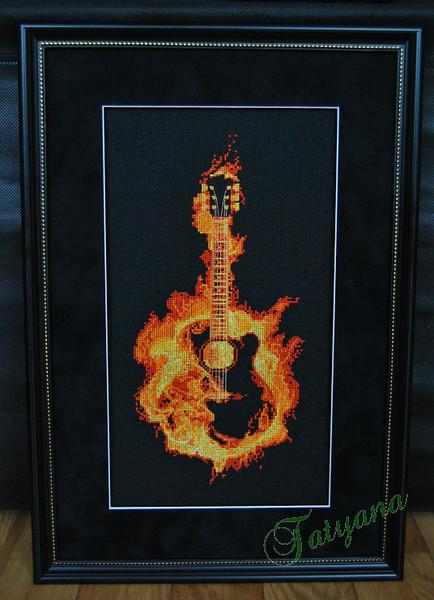 Огненная гитара схема для вышивки 930