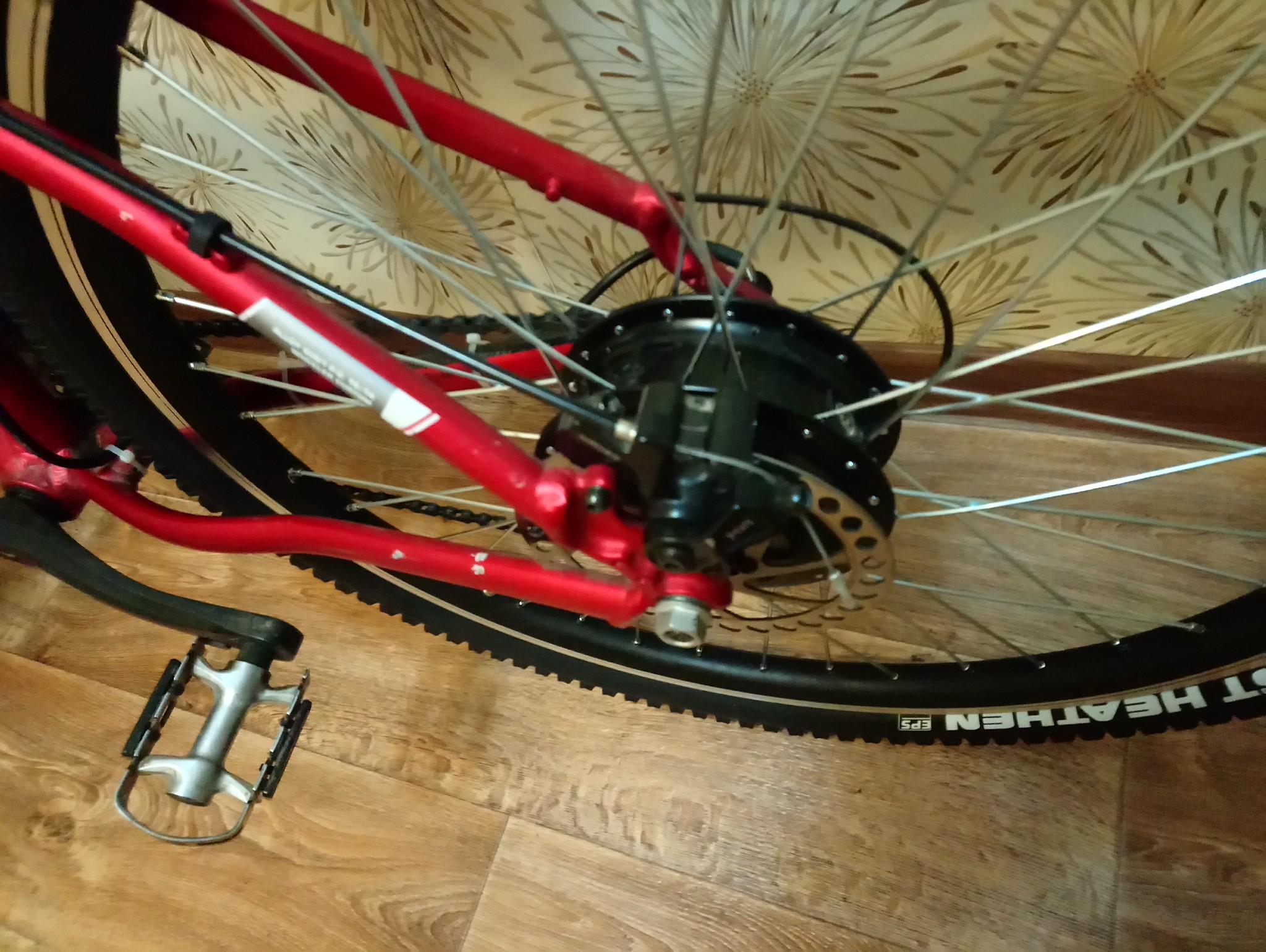 Электровелосипед своими руками мотор колесо