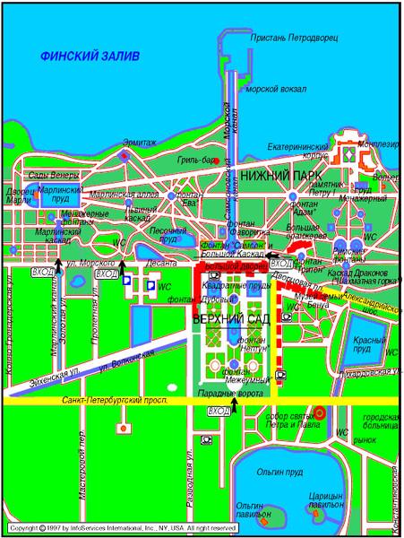 Довольно компактный план парка