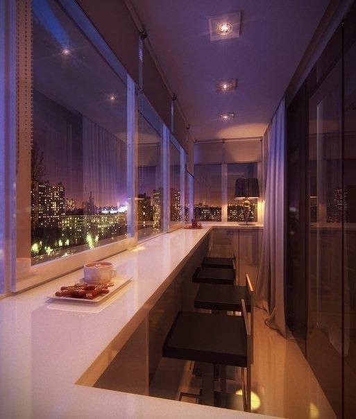 Обычный городской балкон