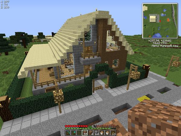 Красивый дом в майнкрафте схема постройки фото 743
