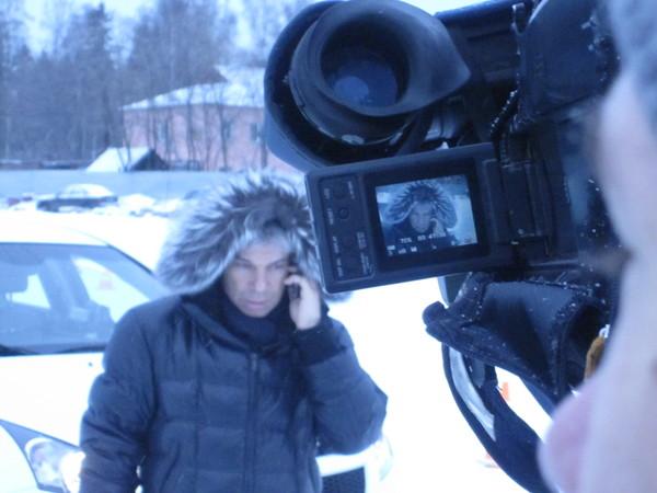 Олег Газманов на записи программы