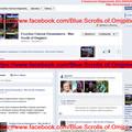 Overview page of Facebook-small site `Голубые Свитки Омджпинета - Blue Scrolls of Omjpinet`