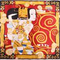 """Элегантный шелковый платок с изображением картины Gustav Klimt  """"Вариант к ожиданию """" станет..."""
