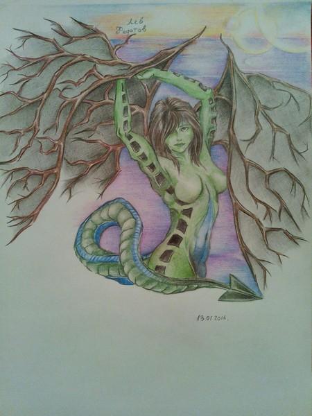 """Рисунок """"Дракон земли - мать природы"""""""