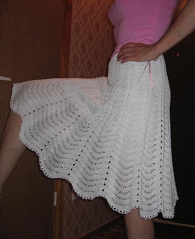 Описание: Вязаная юбка спицами схема, мода 2011г