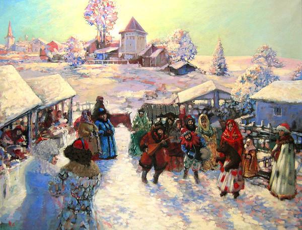Зима гулянья картинки